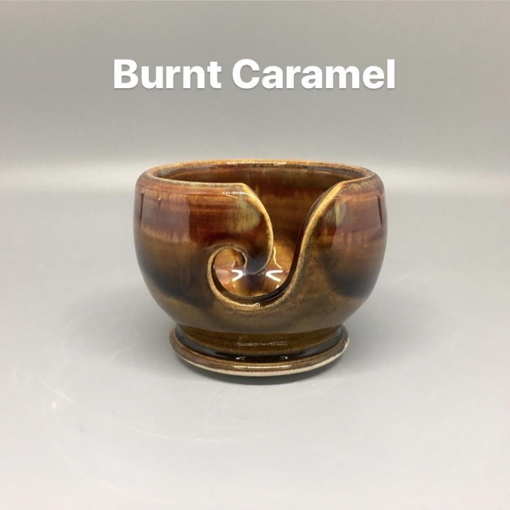 Handmade Ceramic Valdani Thread Bowl Burnt Caramel