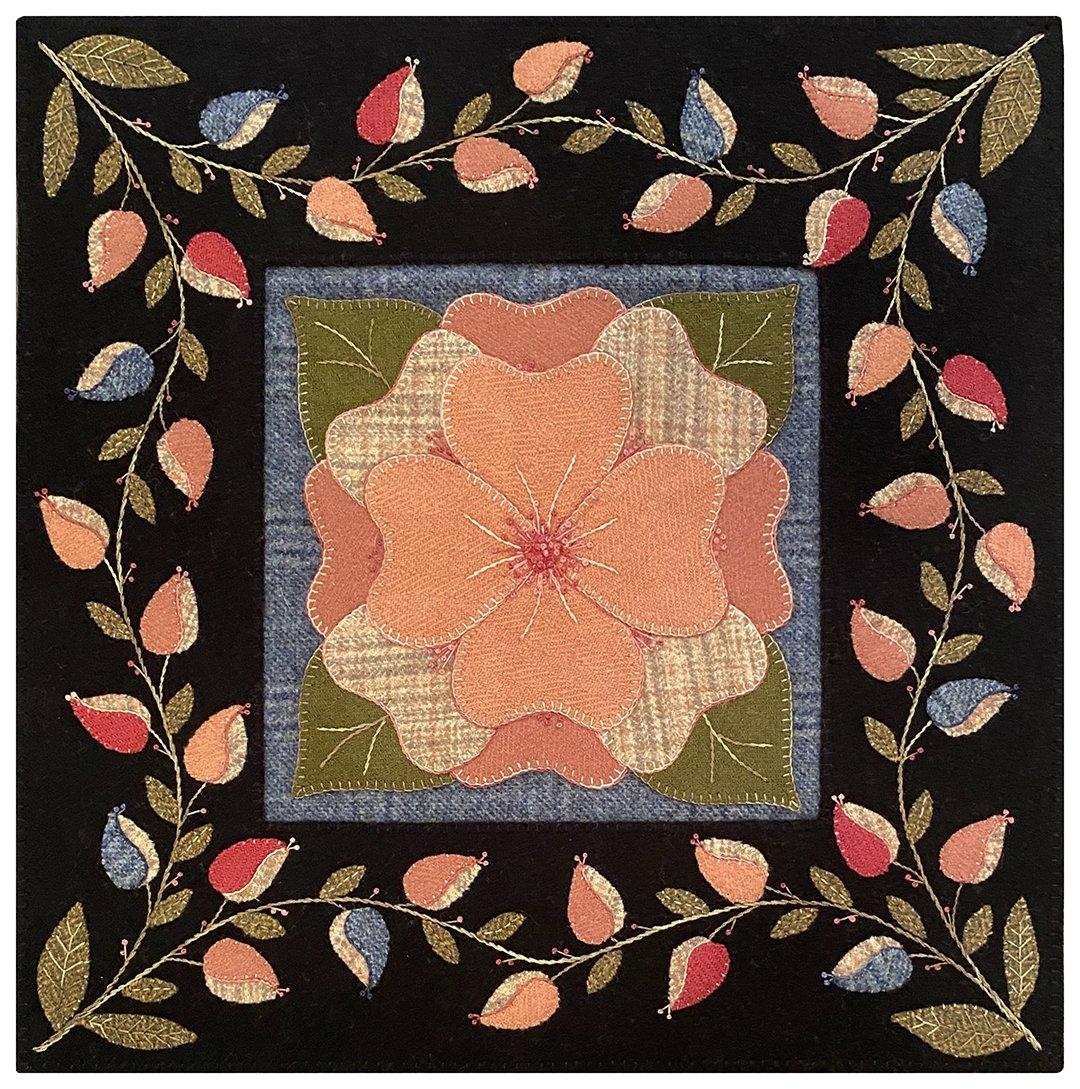 Cabbage Rose Wool Mat Kit