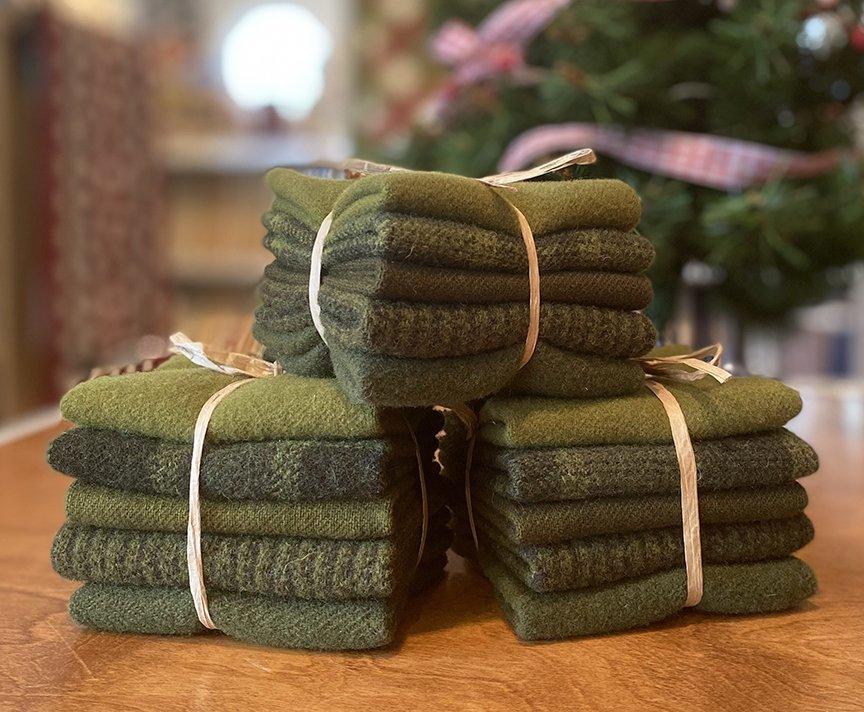 Jingle Bells Green Wool Bundle - Sept 2021