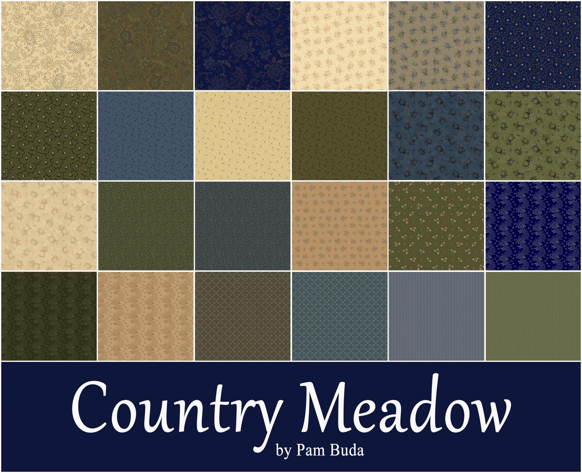 Country Meadow Fat Quarter Bundle - 24 Fat Quarters
