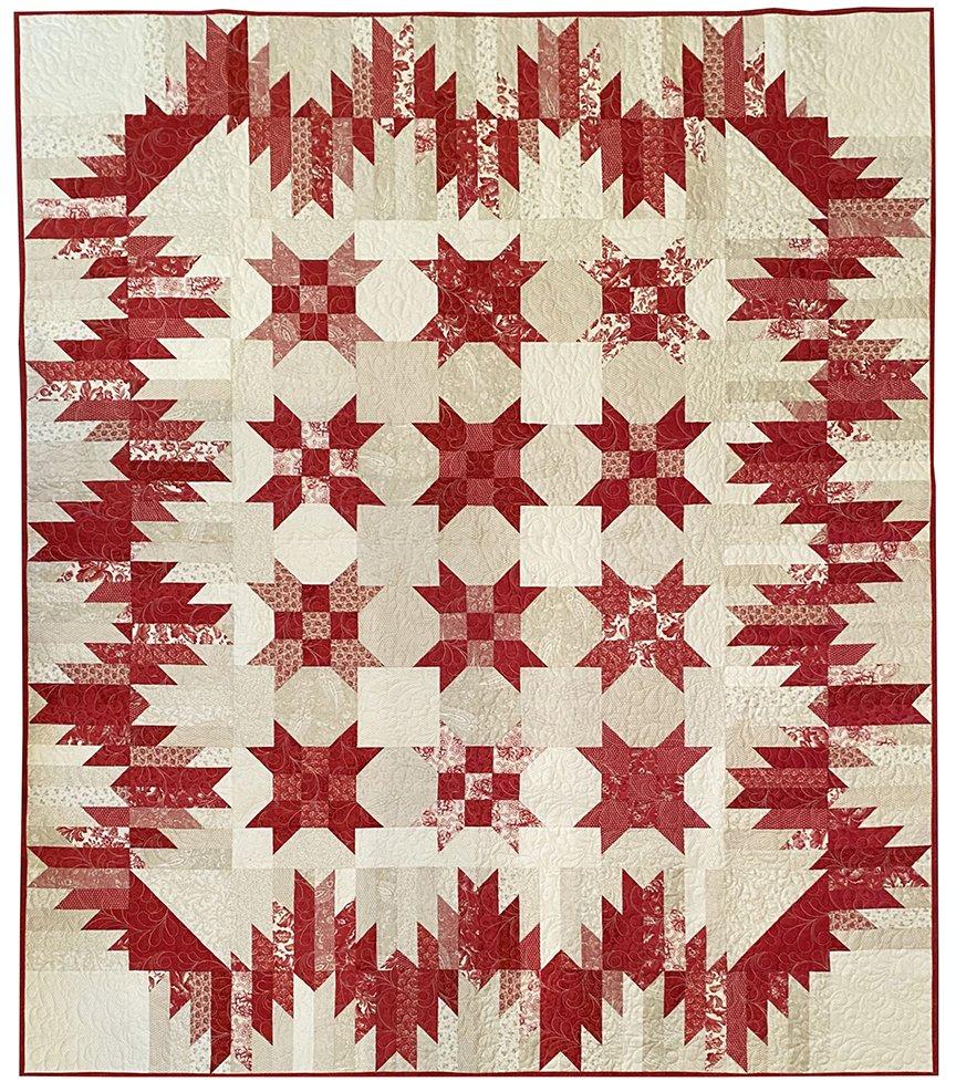 #18 Cranberry Mountains Lap Quilt