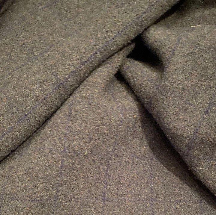 Dark Dark Green Plaid 100% Wool