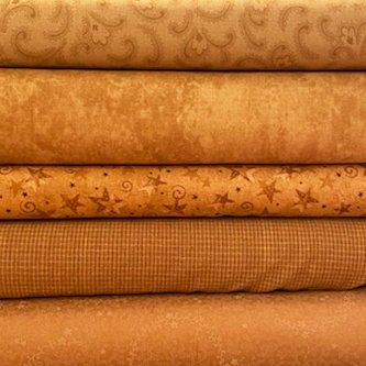 Tan 5 Fat Quarter Bundle