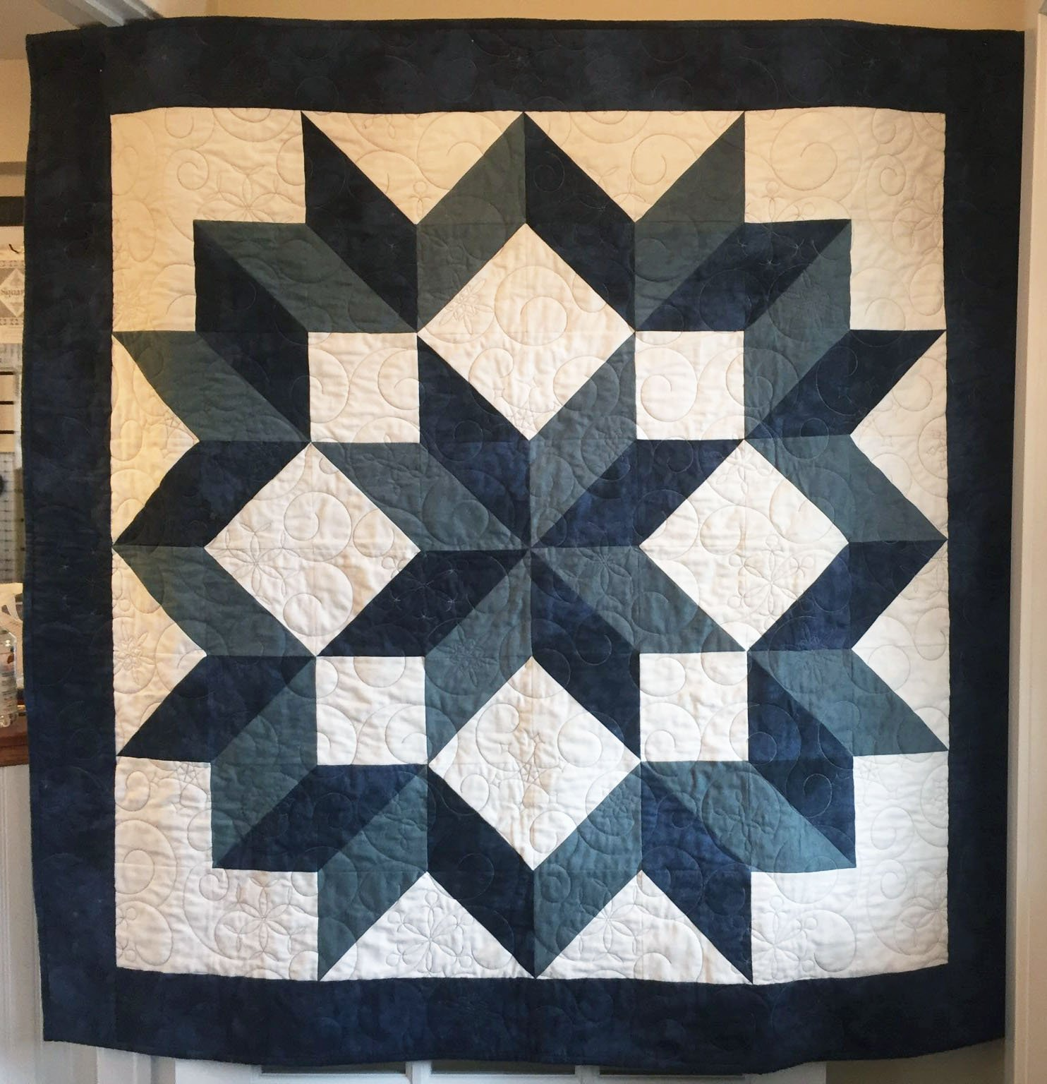 Flannel Carpenter Star in Blue