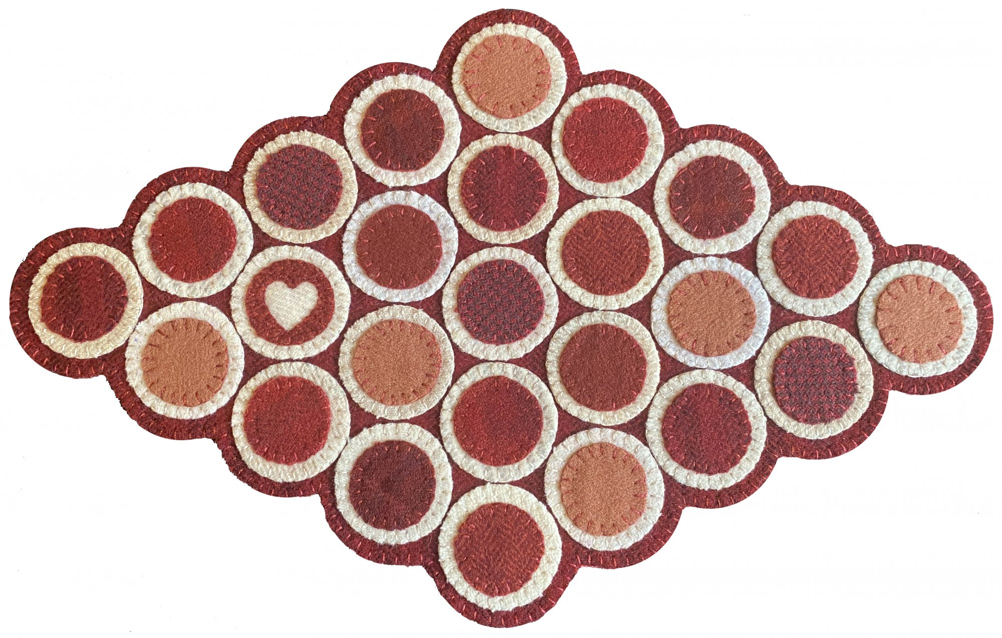 Cent with Love Penny Rug Pattern - DIGITAL DOWNLOAD