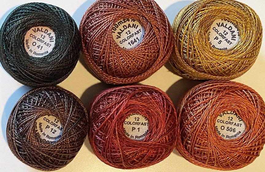 Forest Floor Valdani Size 12 Thread Kit