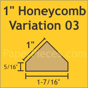 Honeycomb Paper Pieces Fin Var3