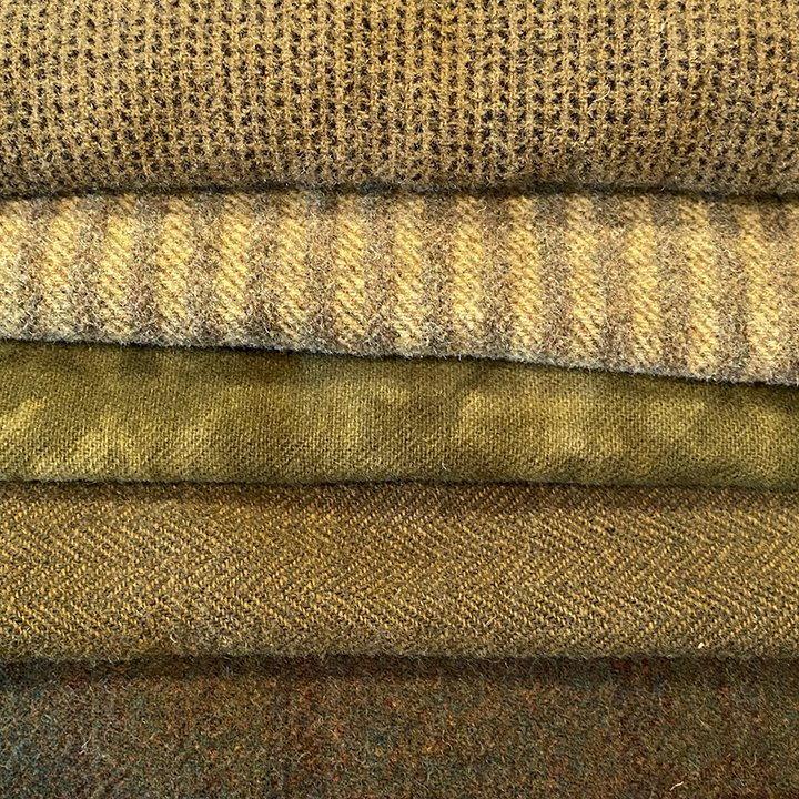 Olive Green Wool Bundle