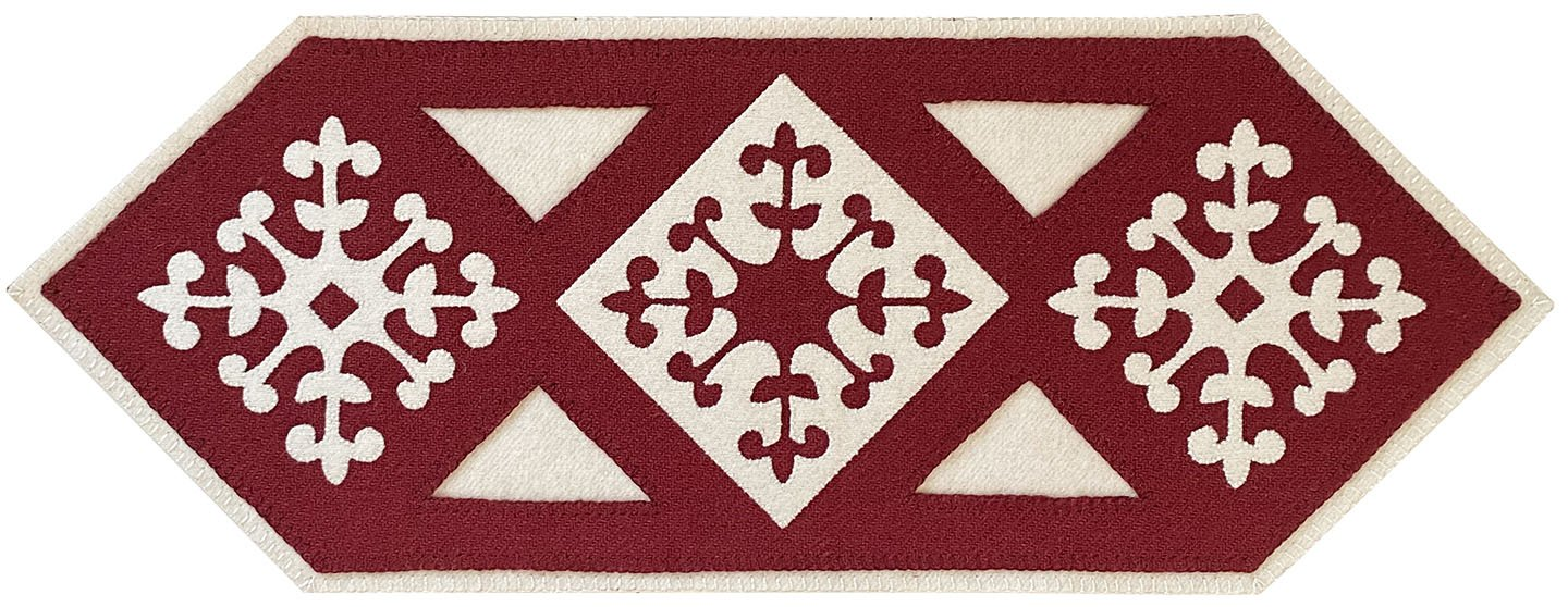 Hawaiian Snow Tablemat in Red