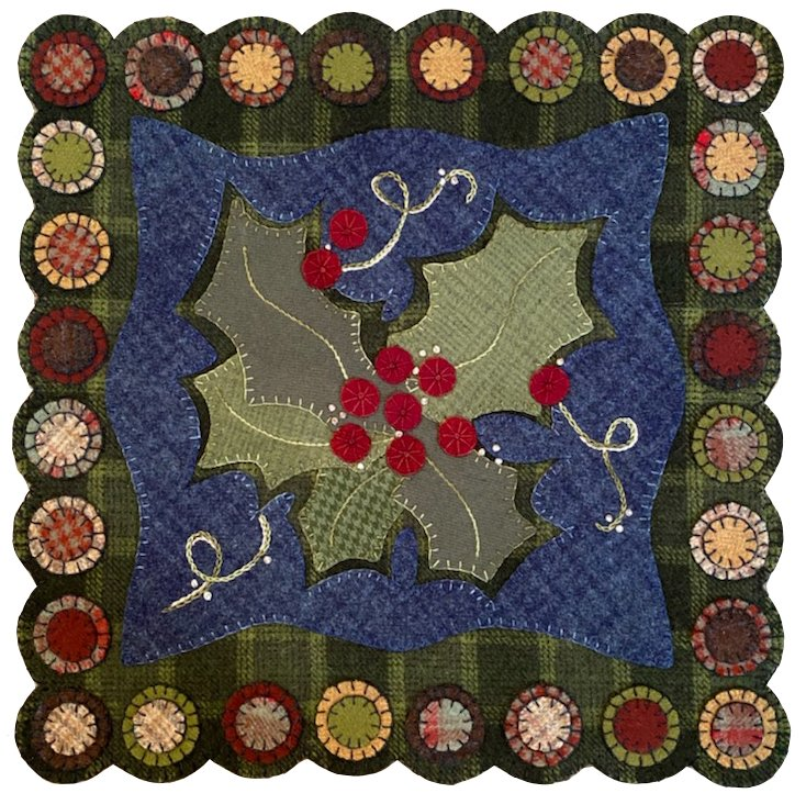 Holly Berry Wool Mat Kit