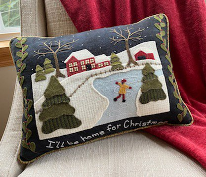 Home for Christmas Pillow - Karen Yaffe