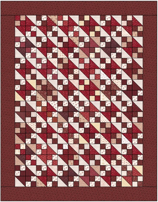 Just 4 Fun Charm Quilt - DIGITAL DOWNLOAD