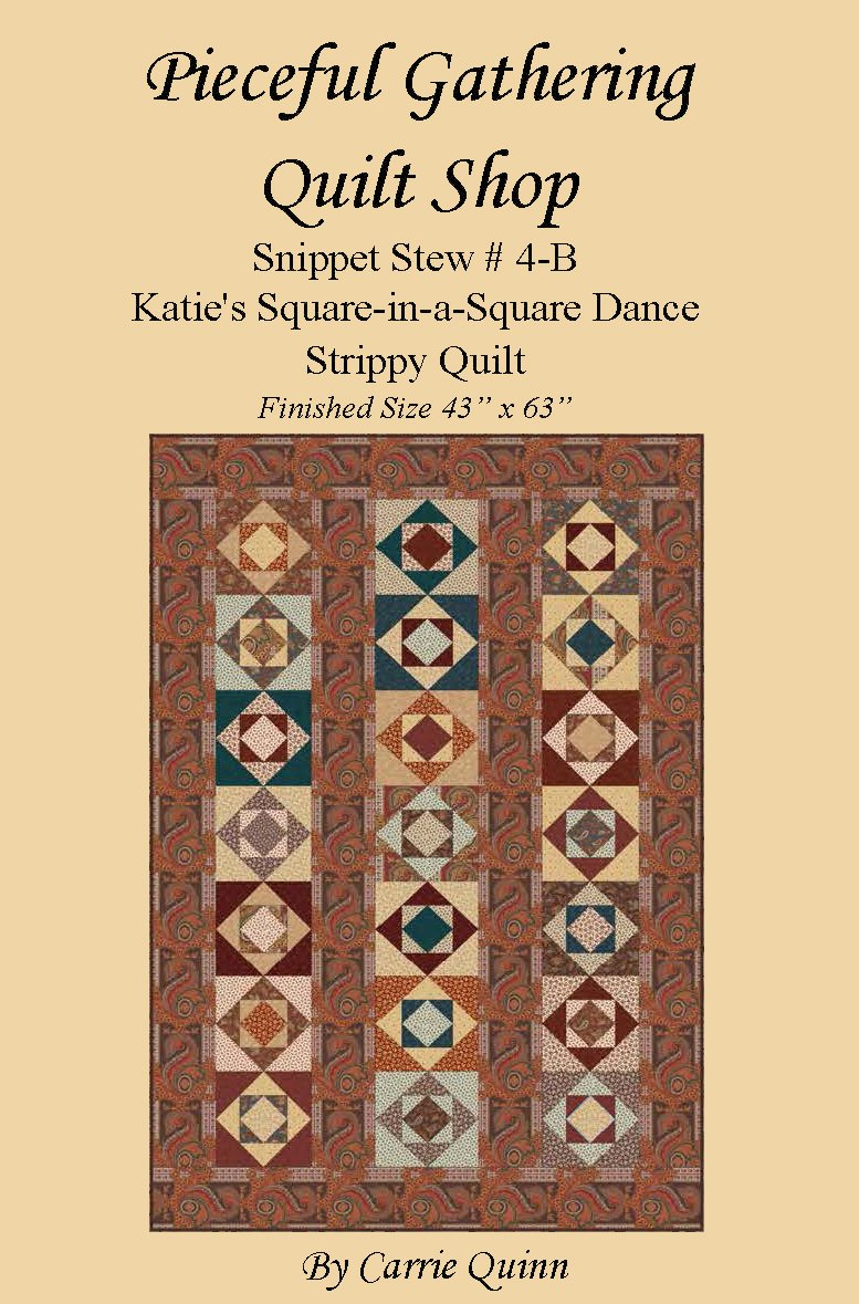 Katie's Madders Square-in-a-Square Dance Strippy Quilt - Digital Download