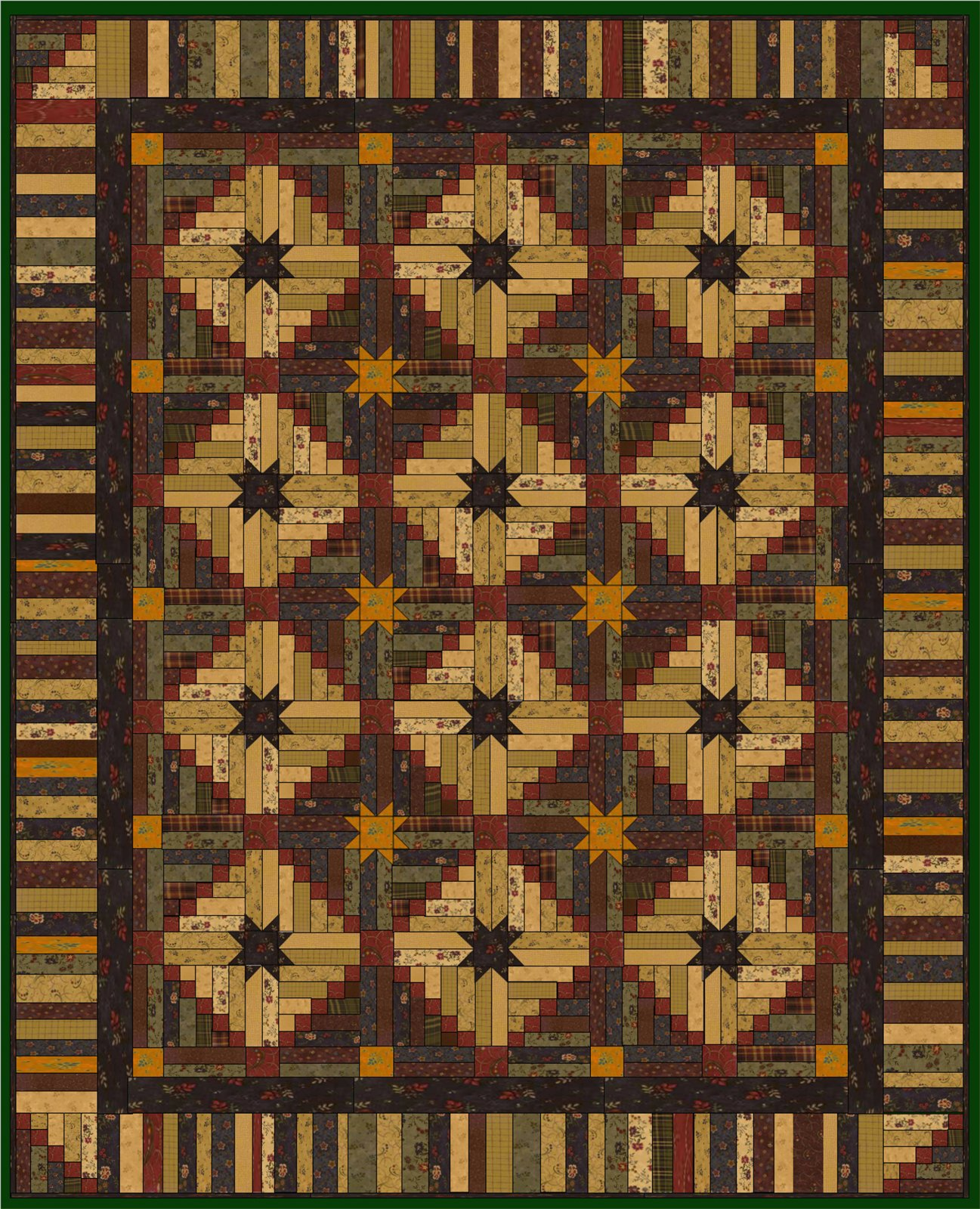 Irish Stars Quilt Pattern DIGITAL DOWNLOAD