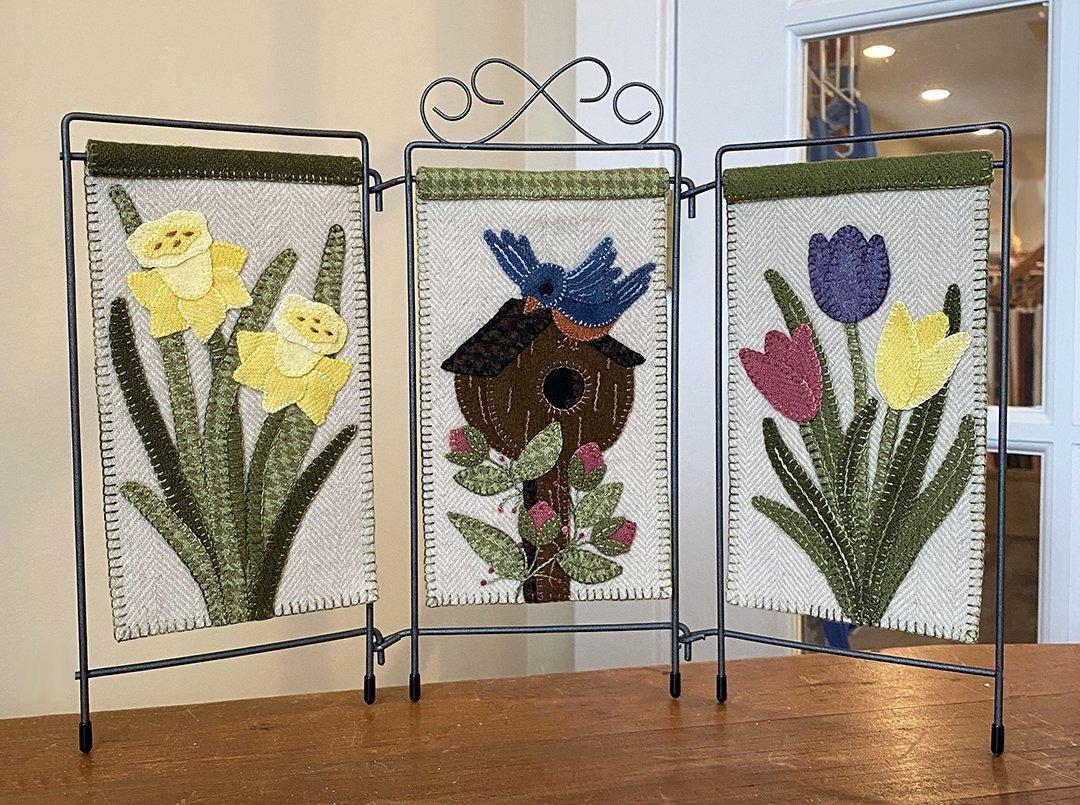 Springtime Trio Pattern by Karen Yaffe - DIGITAL DOWNLOAD