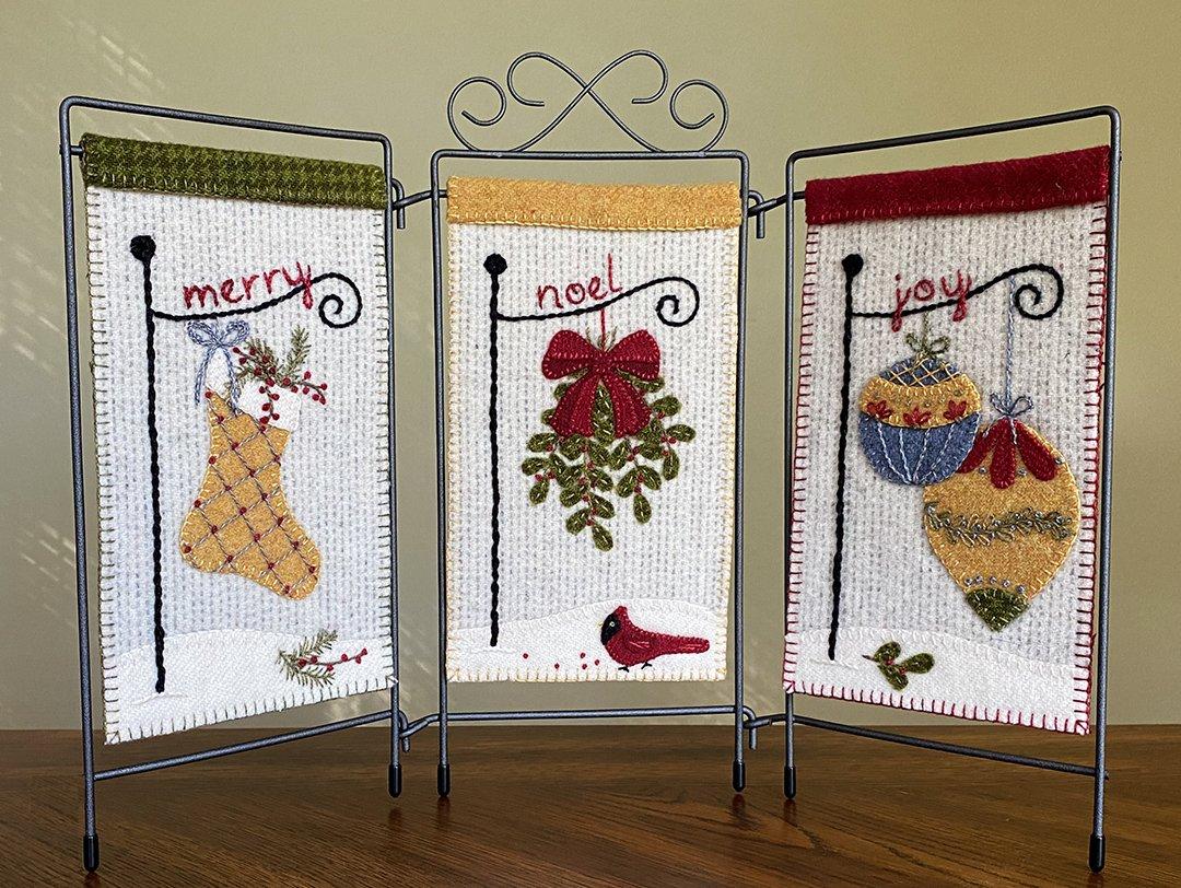 Merry & Bright Trio Pattern - Karen Yaffe
