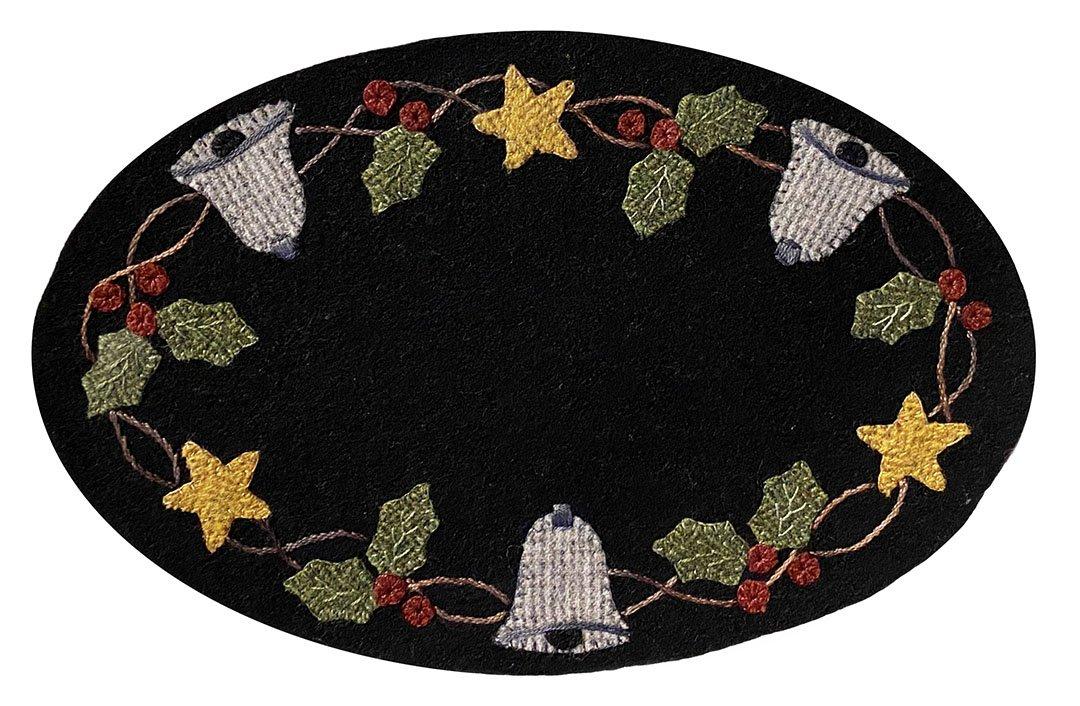 #56  Mini Christmas Bells Wool Mat Kit