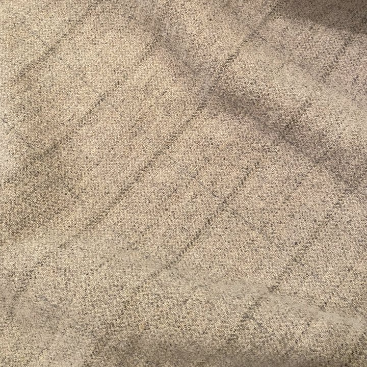 Oatmeal Windowpane 100% Wool