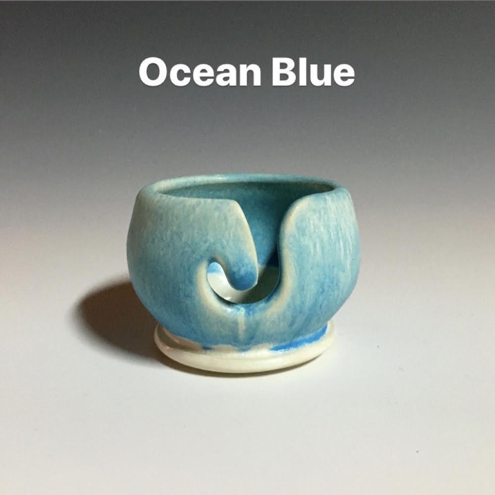 Handmade Ceramic Valdani Thread Bowl Ocean Blue Lt
