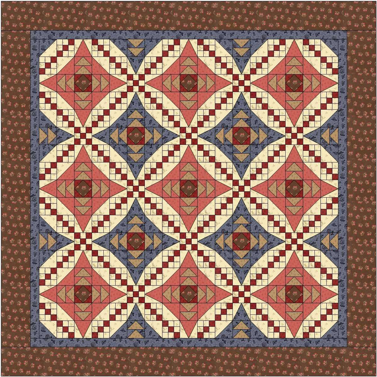 Pieceful Paths Quilt Kit