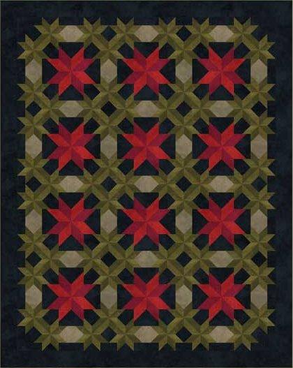 Poinsettia Quilt Kit - Flannel