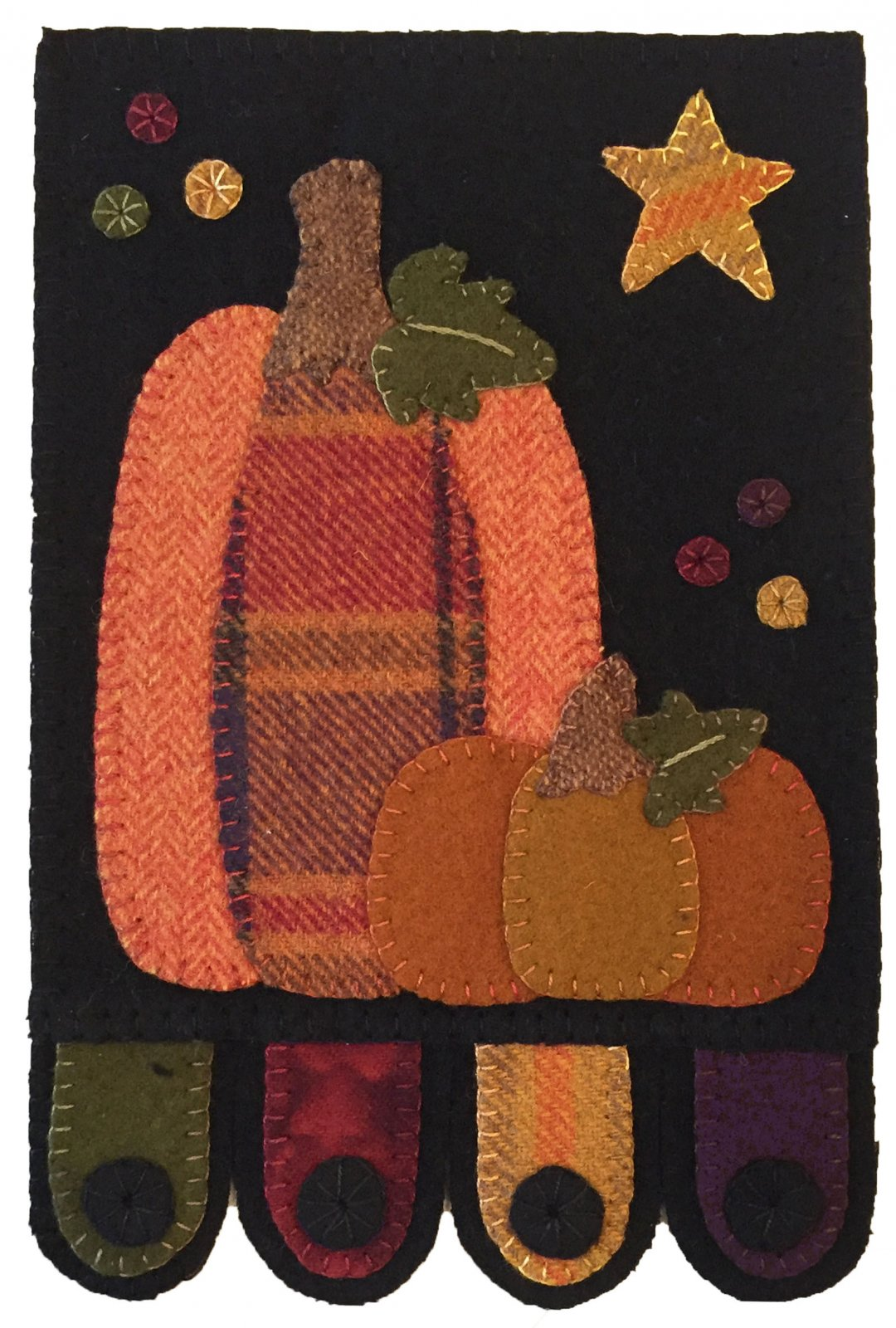 Pumpkin Patch Wall Hanging Pattern Digital Download