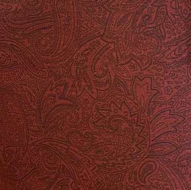 108 Inch Backing Red Paisley