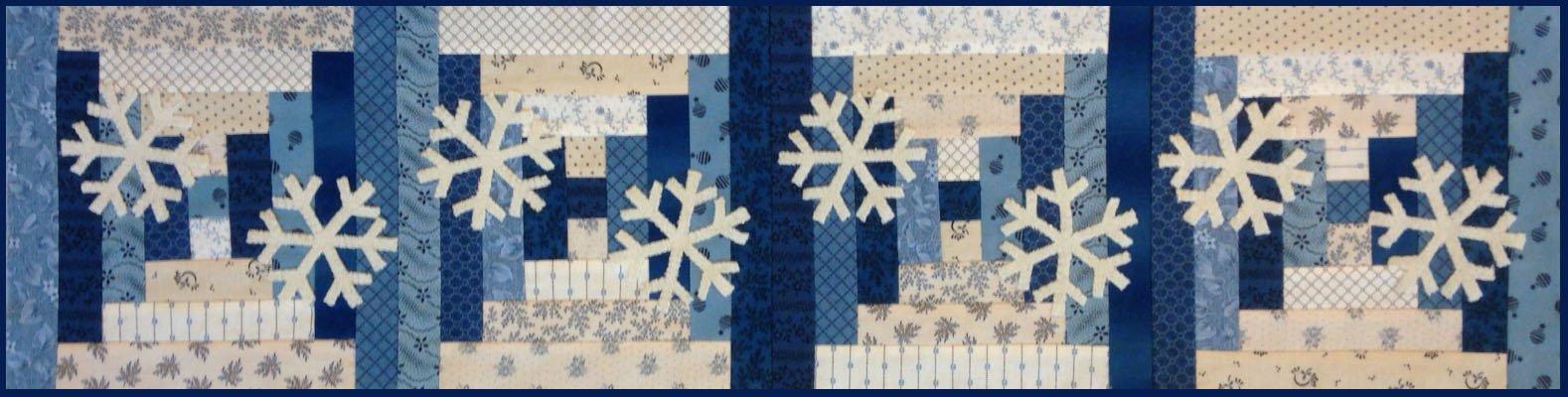 Row by Row Snowflake Runner Digital Pattern