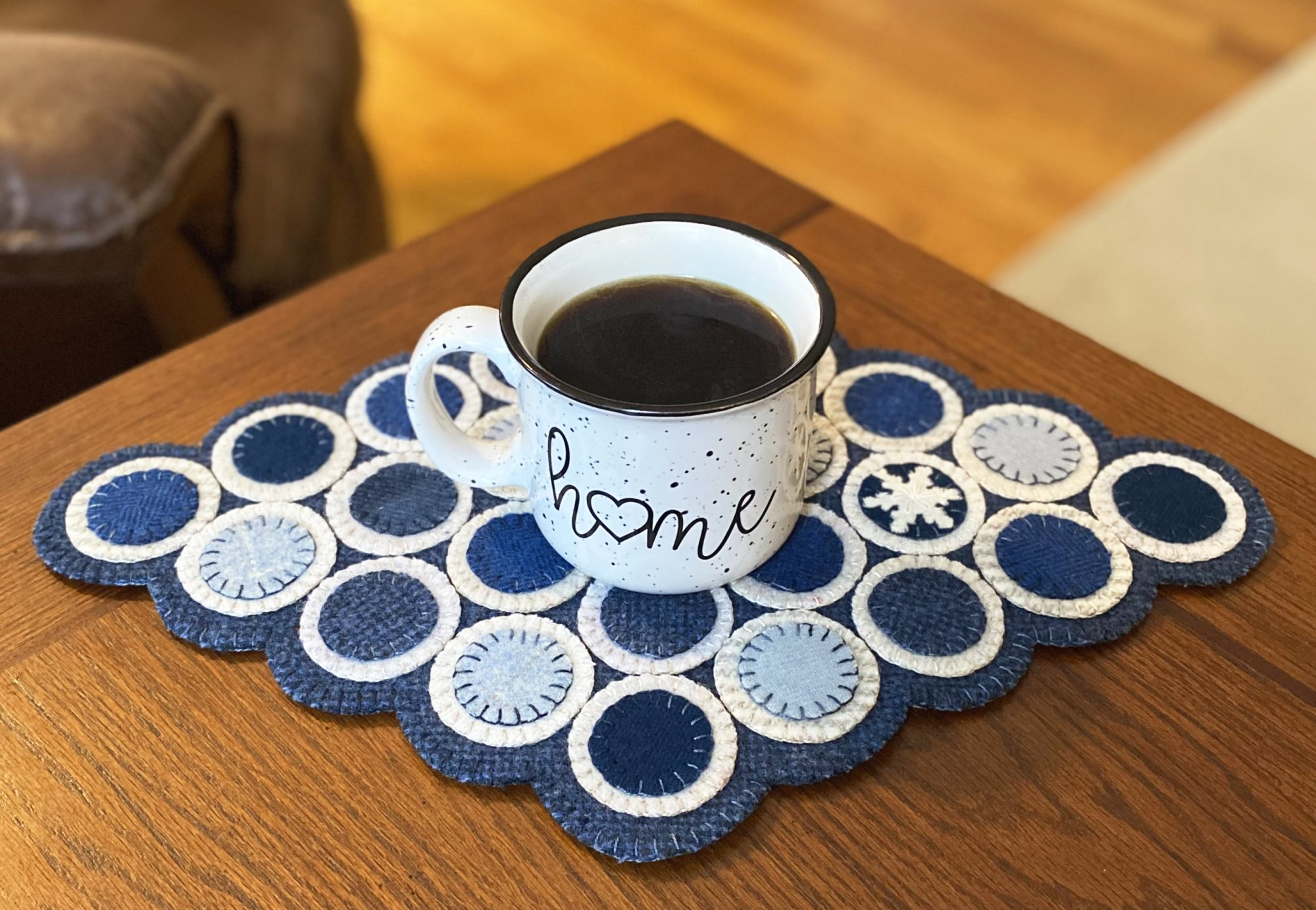Snowdrops Penny Rug Pattern