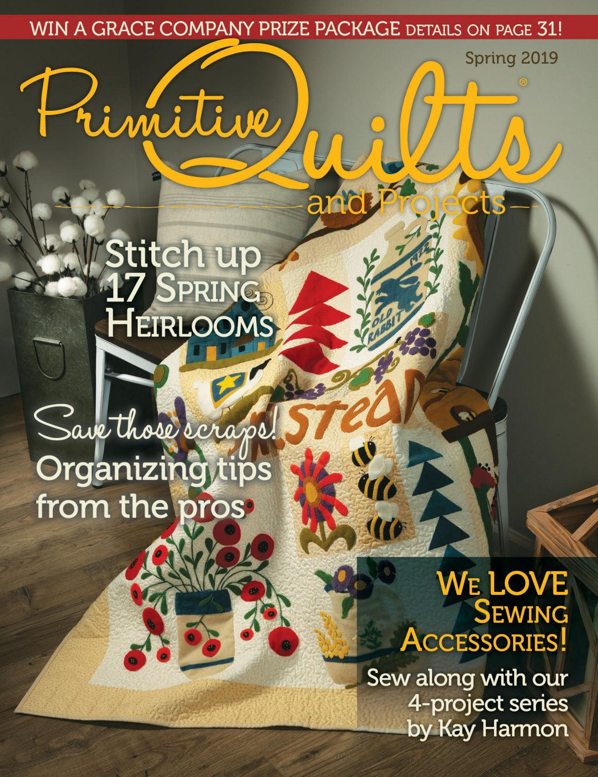 Primitive Quilts & Projects Spring 2019