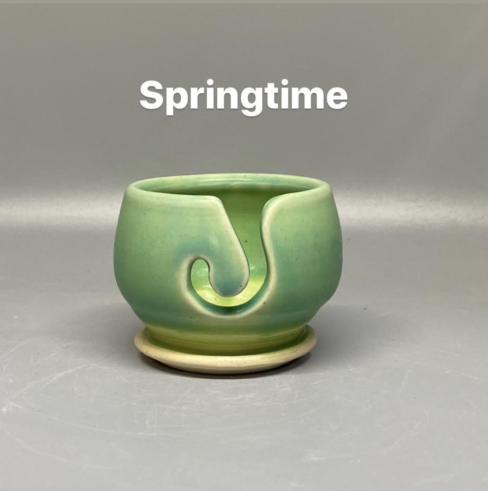 Handmade Ceramic Valdani Thread Bowl Springtime Gr