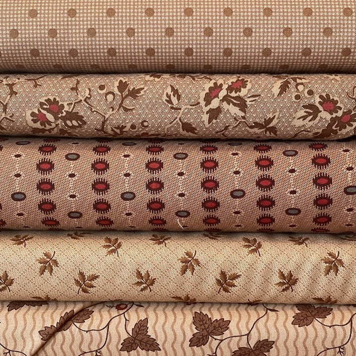 Tan 5 Fat Quarter Bundle Jan 21