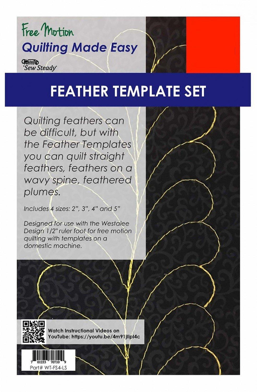 4 Piece Feather Template Set - High Shank