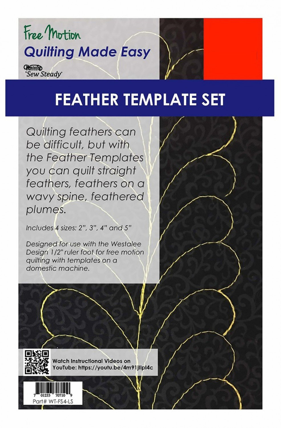 4 Piece Feather Template Set - Low Shank