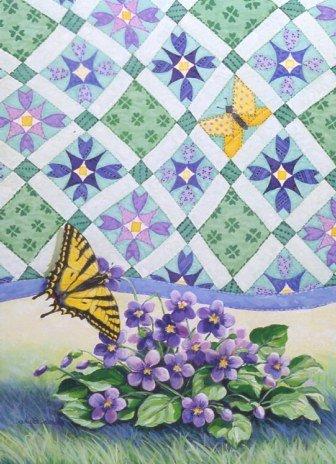 Violets Quiltscape