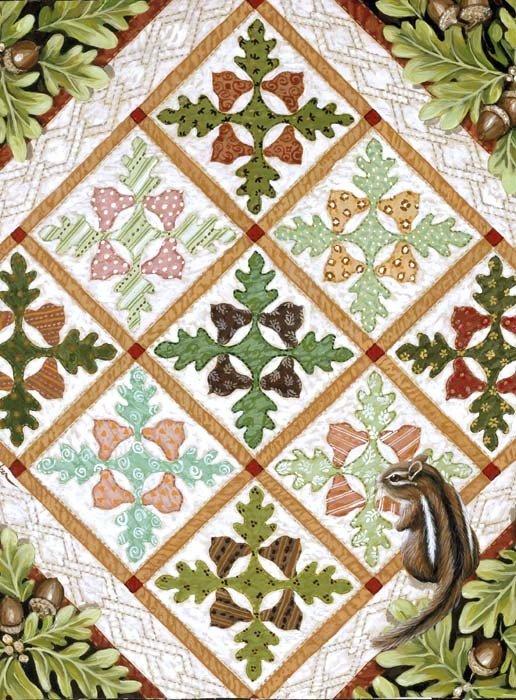 Acorn & Oak Quiltscape