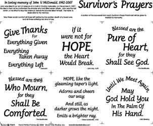 Survivor's Prayer panel