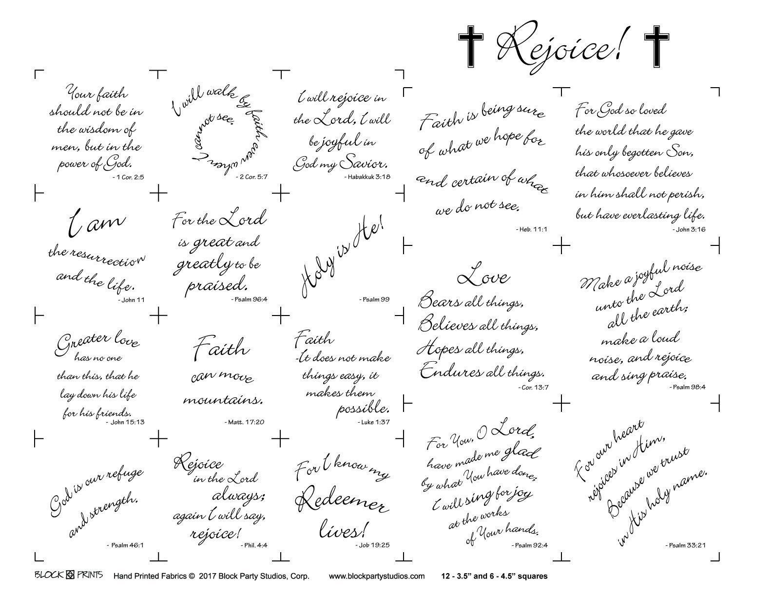 Rejoice word panel