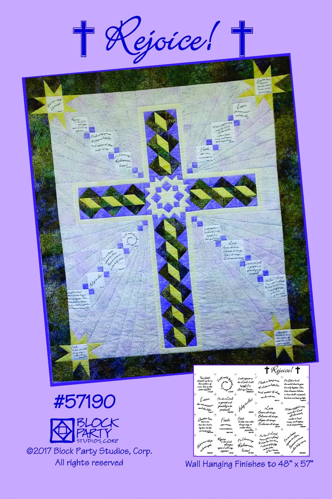 Rejoice - pattern & panel