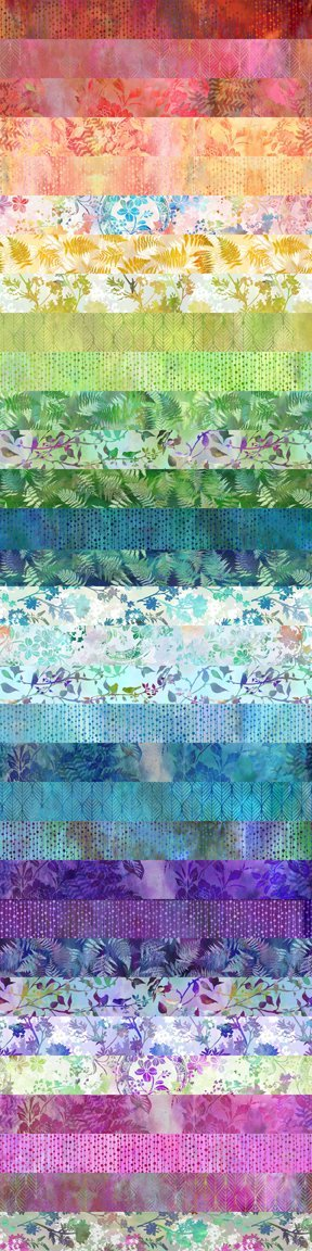 Garden of Dreams - 2 1/2 strip roll 40 pieces