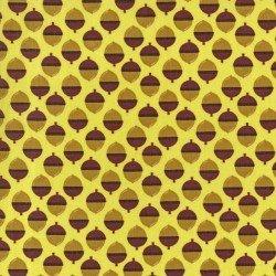 Norwegian Woods-acrons on yellow