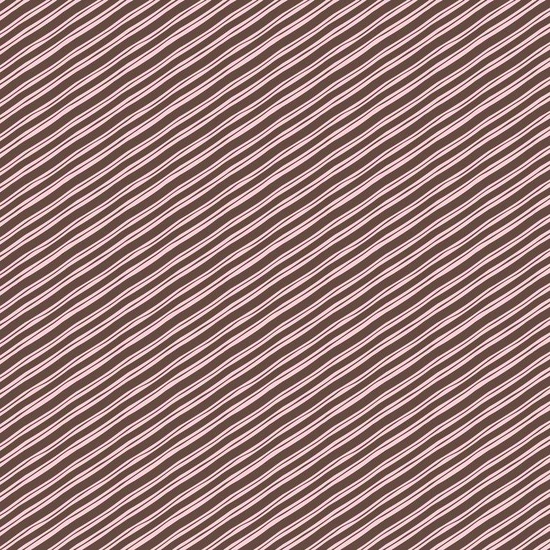 Sugar Rush- Pink/Brown Candy Stripe