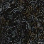 Brown & gray ferns on black rayon