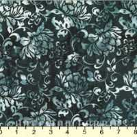 Gray flower on dark navy