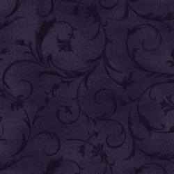 108 Beautiful Backings - Flourish Scroll Dark Purple