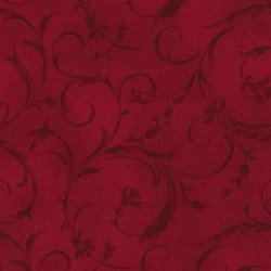 108 Beautiful Backings - Flourish Red Tonal
