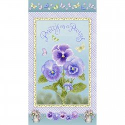 Pretty as a Pansy-floral panel