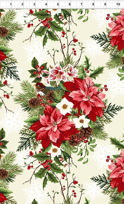 Winter Twist- red floral/pine cone bouquet