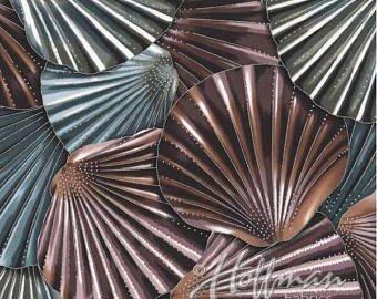 Coastal Drift-large dark aqua, plum, gray shells