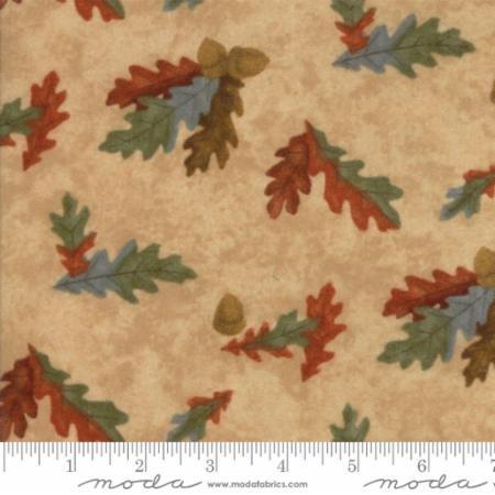 Fall Impressions- oak leaves & acorn clusters on tan